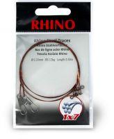 0,27mm Rhino Steel Trace 1x7 0,5m 9kg 2 pieces