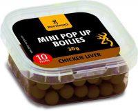 Mini Pop-up Boilie, pre-drilled brown Chicken Liver 10mm 30g