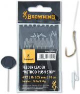 #12 Feeder Leader Method Push Stop bronze 10lbs 0,22mm 10cm 8pcs