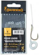 #12 Feeder Leader Waggler/Feeder Pellet Band bronze 6,5lbs 0,18mm 30cm 8pcs