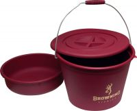 Bucket with lid and bowl 30l