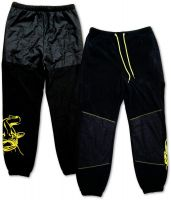 XL Fleece Pants black/yellow