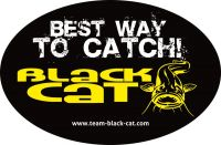 Black Cat Sticker 12cm 8cm