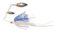 Atlas Spinnerbait 3/8oz Clear / Blue Glimmer - Holo Nickel